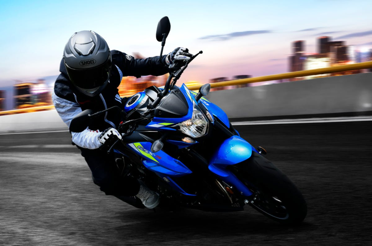 Suzuki GSX-S750 in action on the road