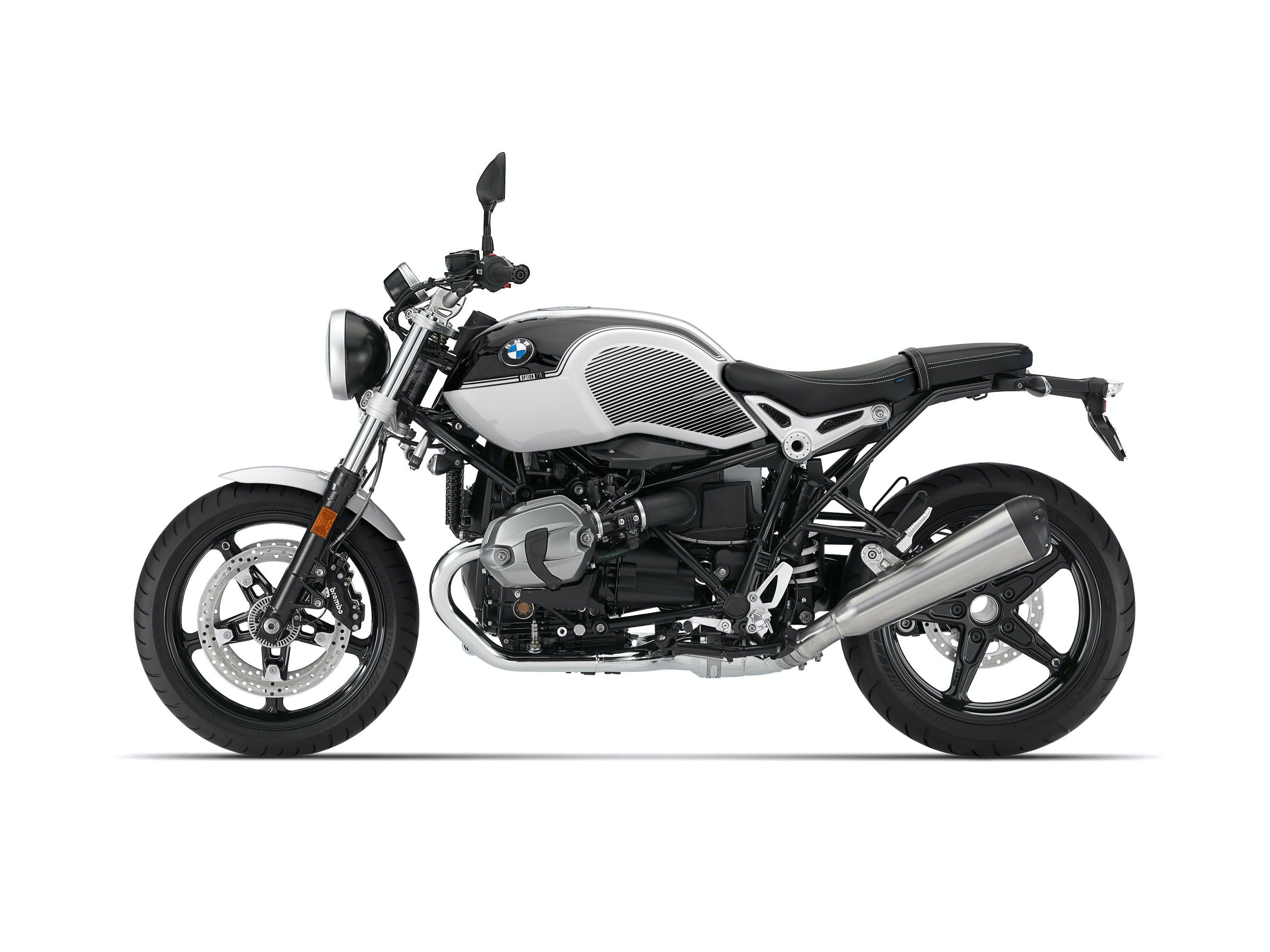 BMW R NINET PURE SPEZIAL in opt 719 black storm metallic / light white colour