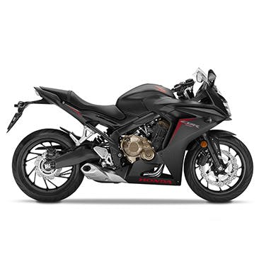 Honda CBR650F in matte gunpowder black metallic colour