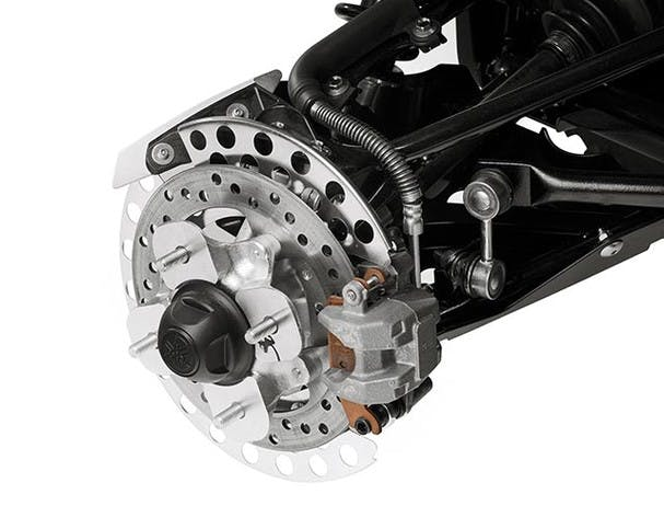 Yamaha Grizzly 700 disc brakes