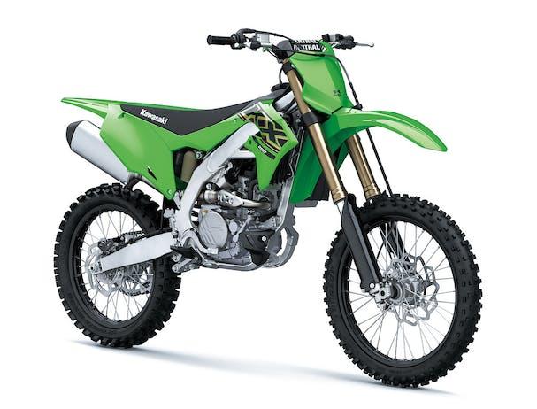KawasakiI KX250 in lime green colour
