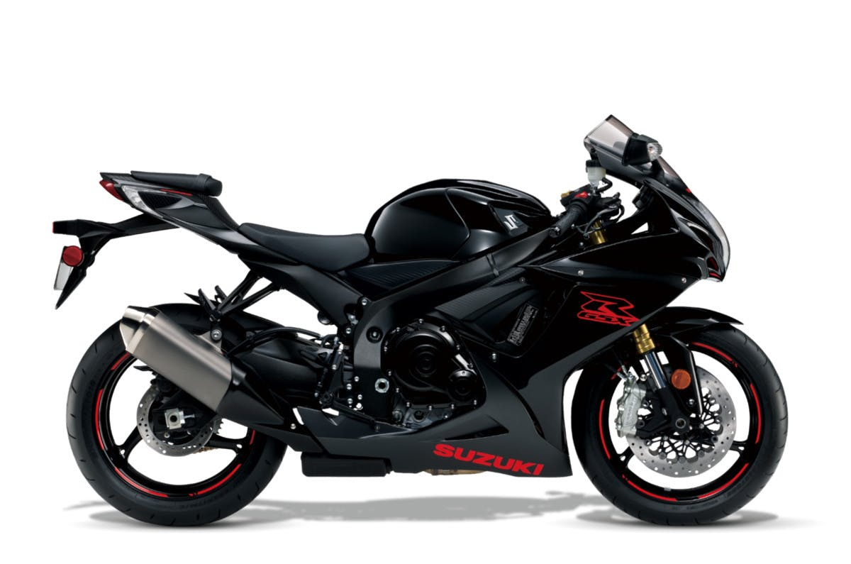 SUZUKI GSX-R750 in candy daring red and glass sparkle black colour
