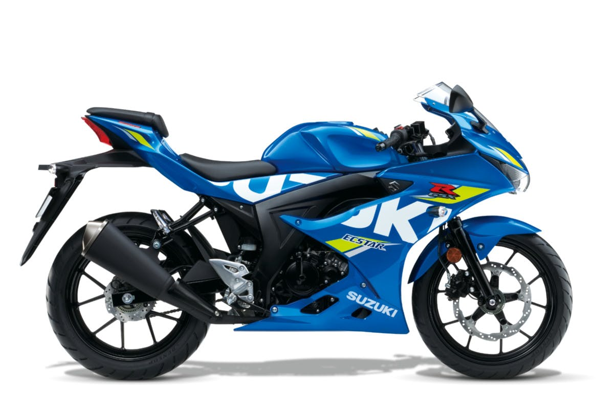SUZUKI GSX-R125 in metallic triton blue colour