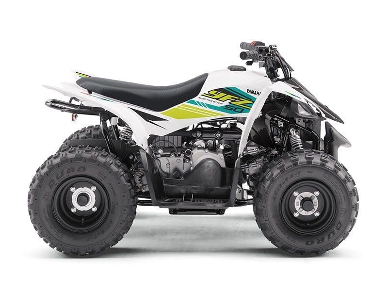Yamaha YFZ50 in white colour.