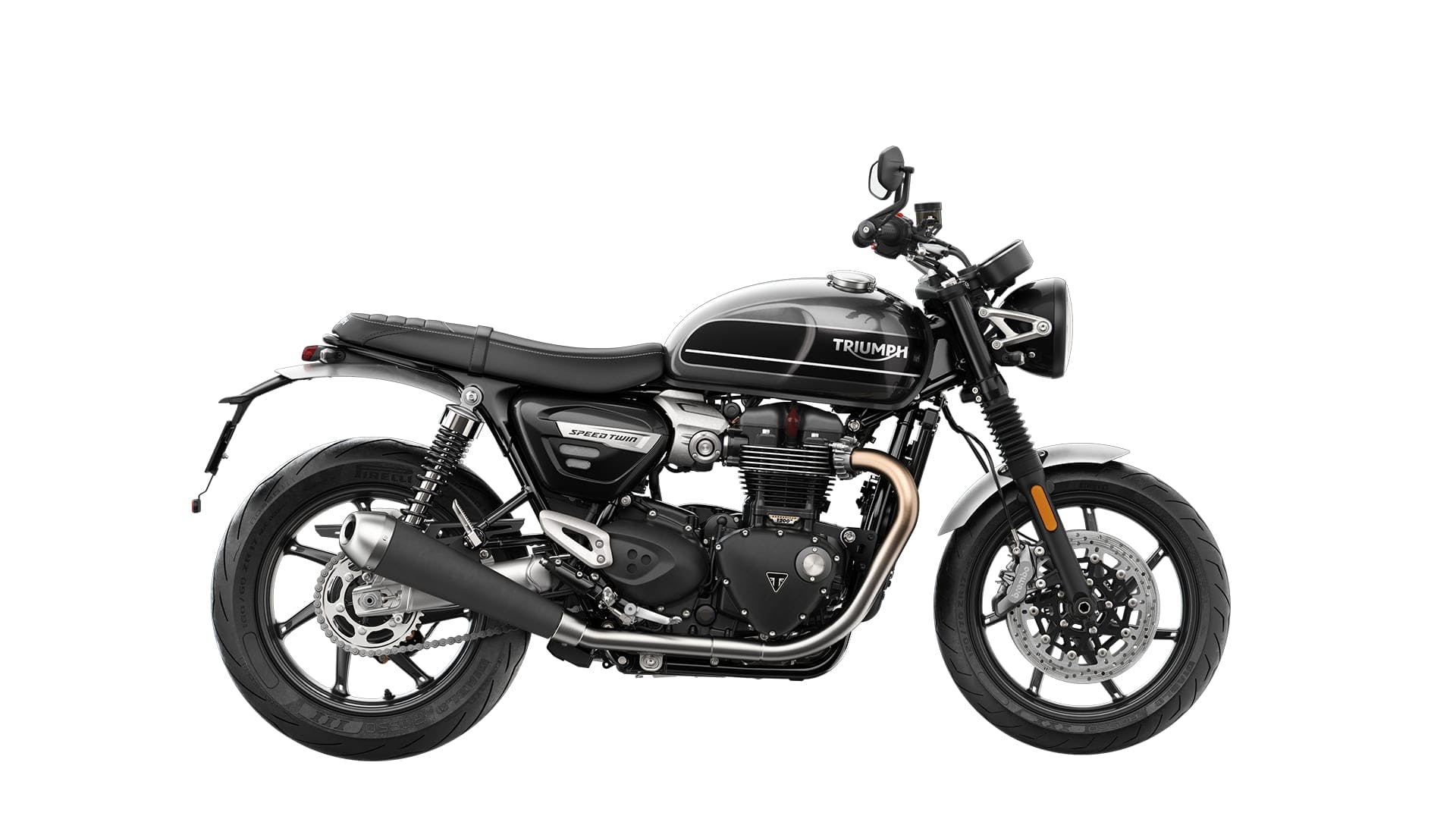 TRIUMPH BONNEVILLE SPEED TWIN in silver ice and storm grey colour