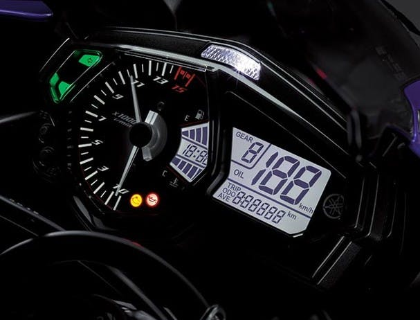 Yamaha YZF-R3 2018 instrument panel