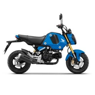 Honda GROM in Candy Victory Blue colour