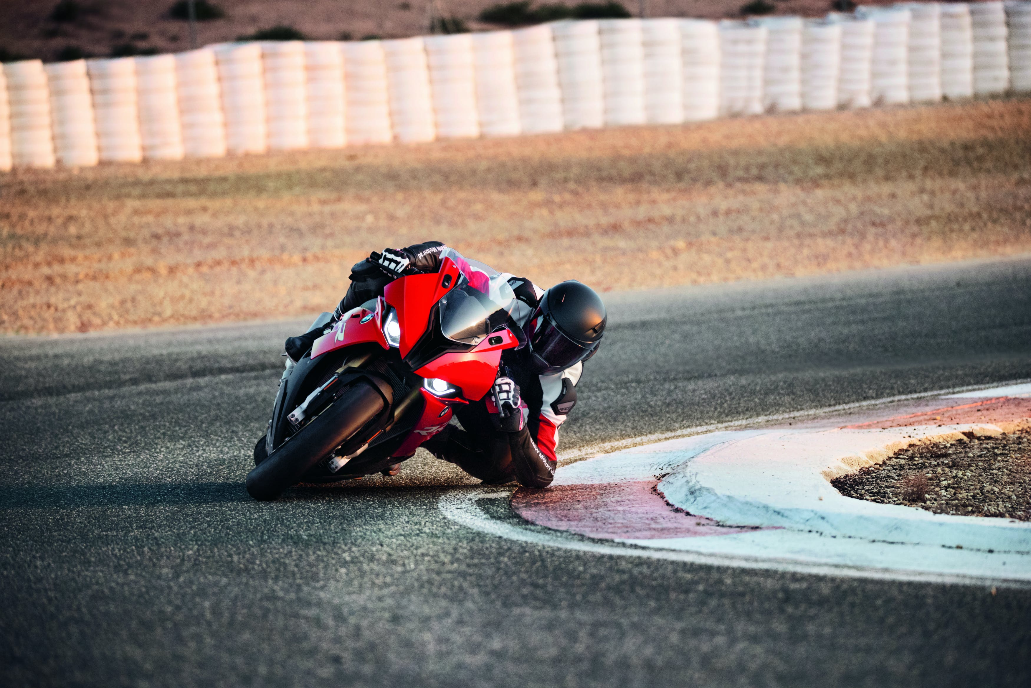 BMW S 1000 RR M SPORT being ridden on the race track