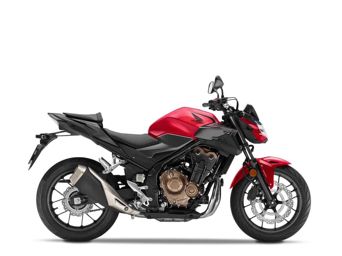 Honda CB500F in grand prix red colour