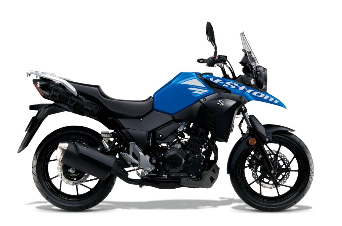 SUZUKI V-STROM 250 in metallic triton blue colour