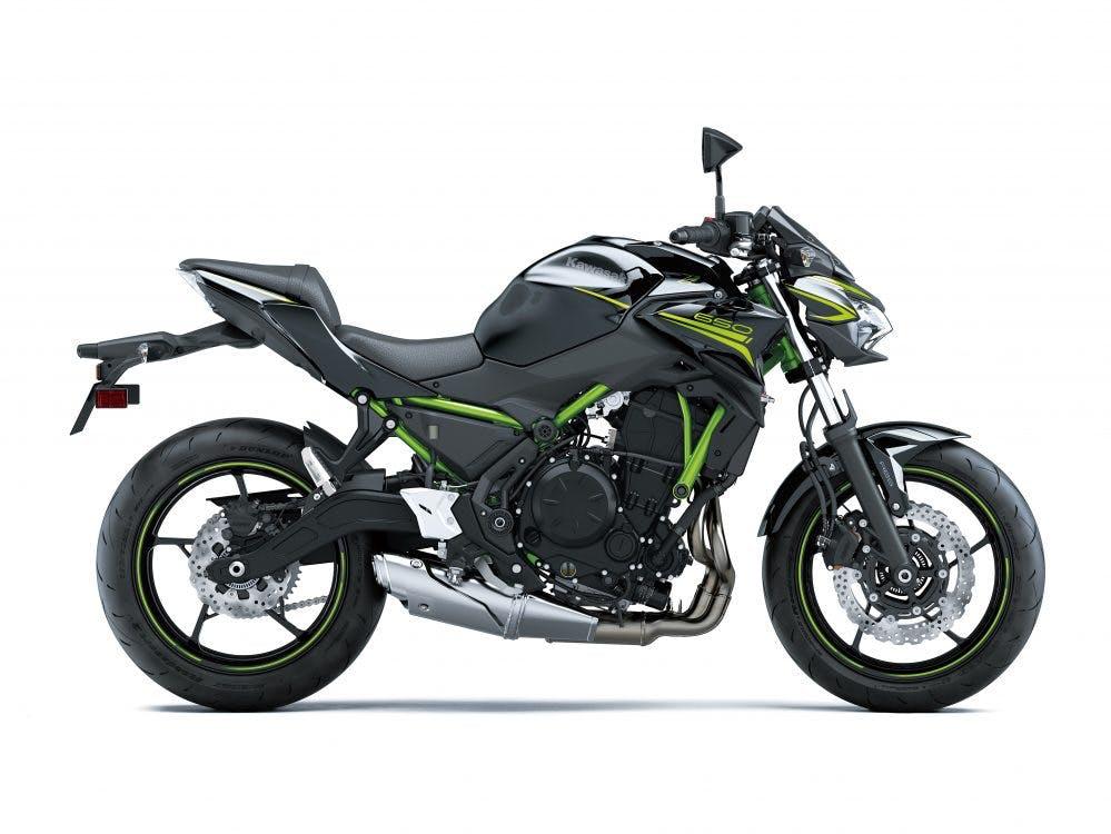Kawasaki Z650L in Metallic Spark Black colour