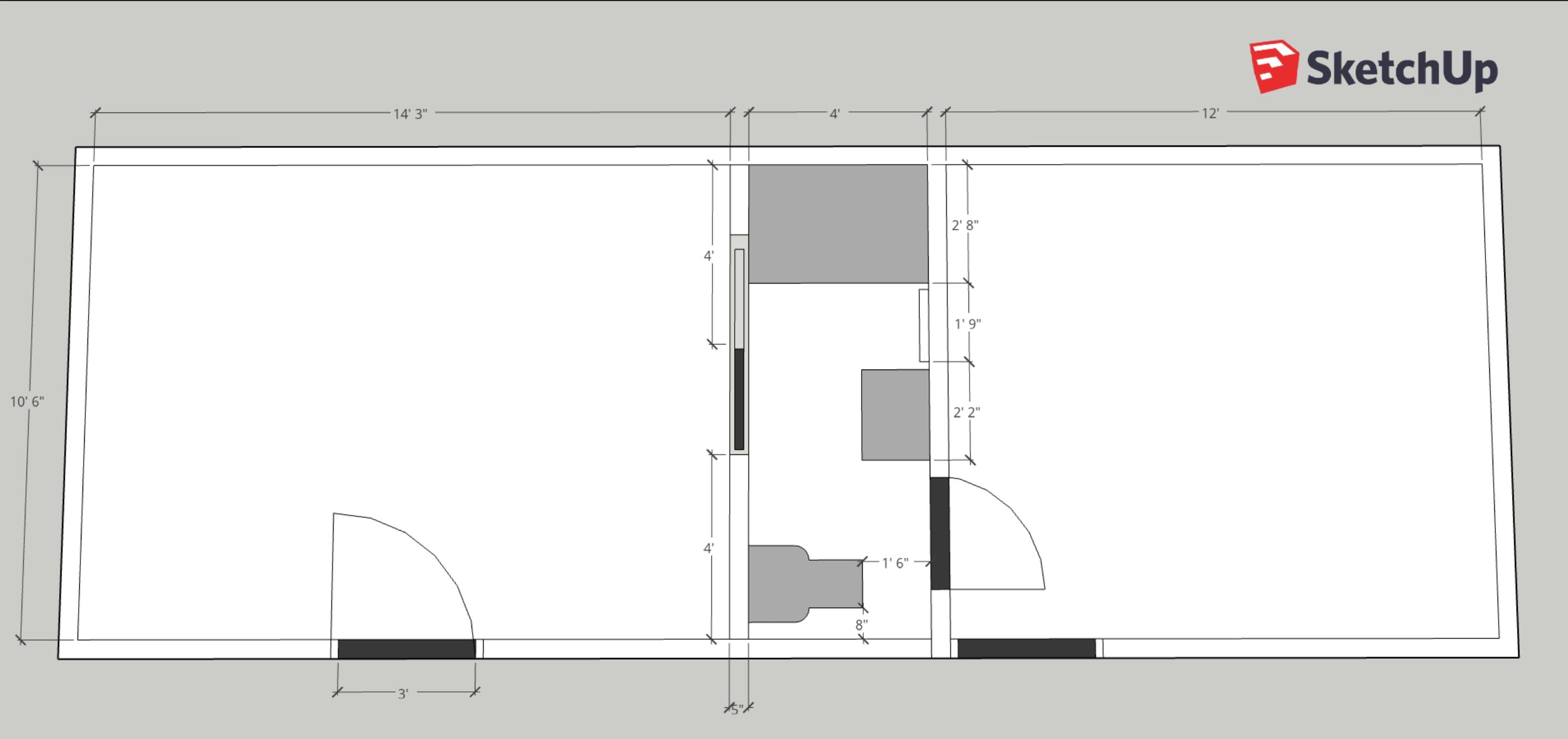 Plan d'étage de rénovation