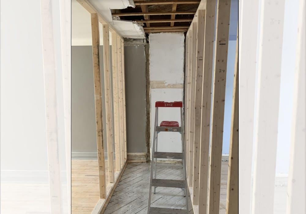 Rénovation salle de bain en cours