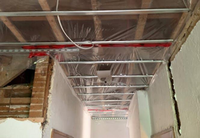Hallway soundproofing work