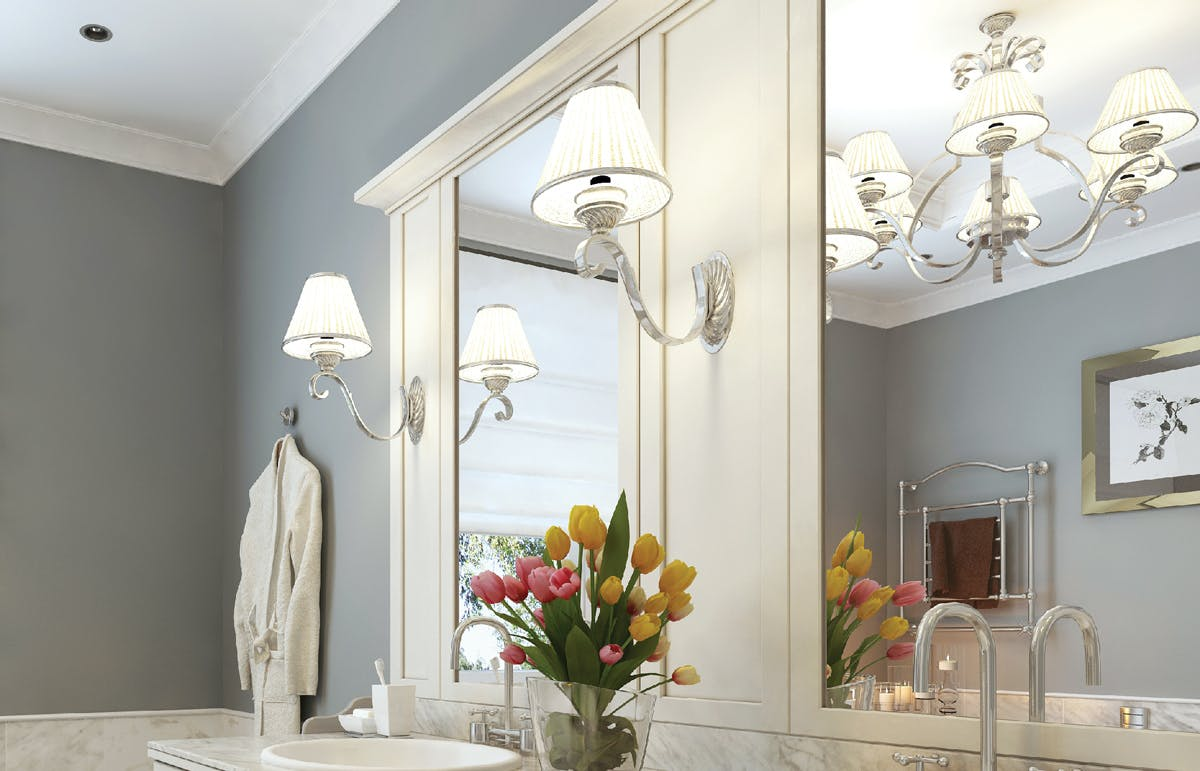 Farmhouse-inspired wall sconces