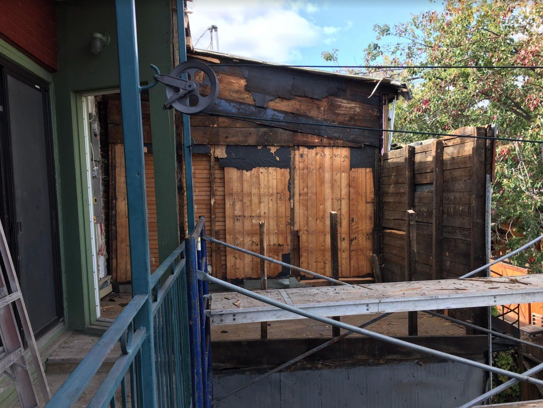 Second floor extension in progress