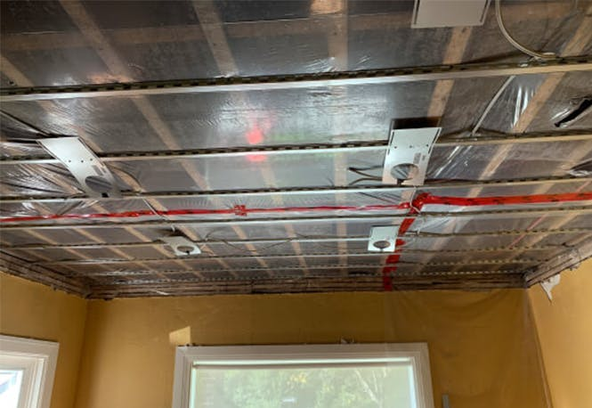 Soundproofing the ceiling of a first floor apartment