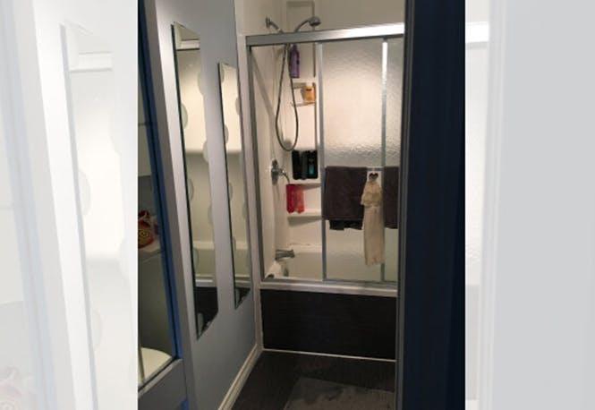 Bathroom, before renovation