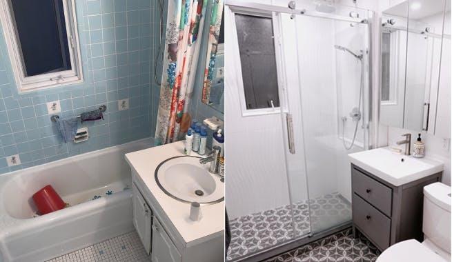 Avant rénovation de salle de bain