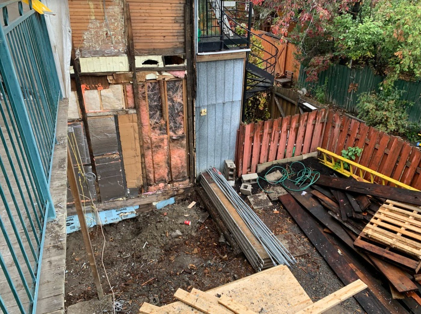 First floor extension and basement renovation in progress