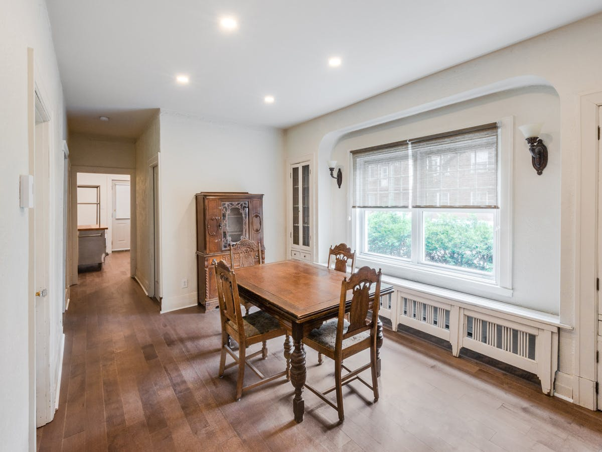 Renovated and soundproofed dining room