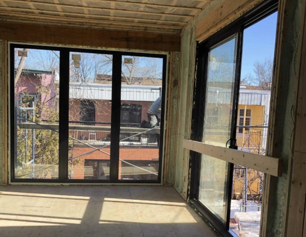 Second floor extension with new windows
