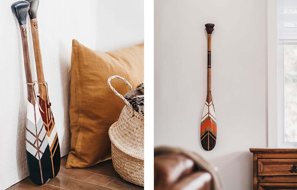Onquata paddels in bedroom