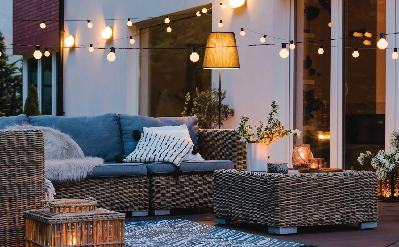 Backyard living room