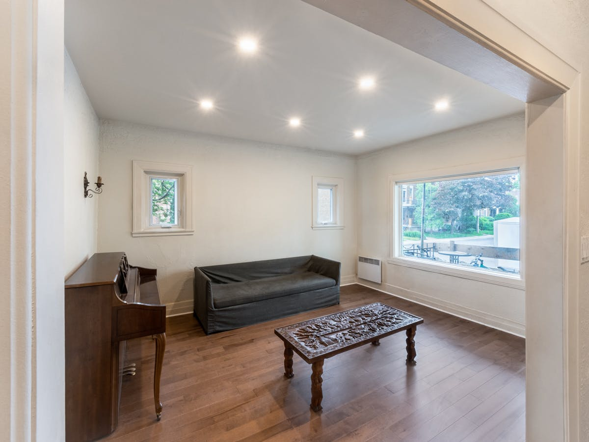 Renovated and soundproofed living room