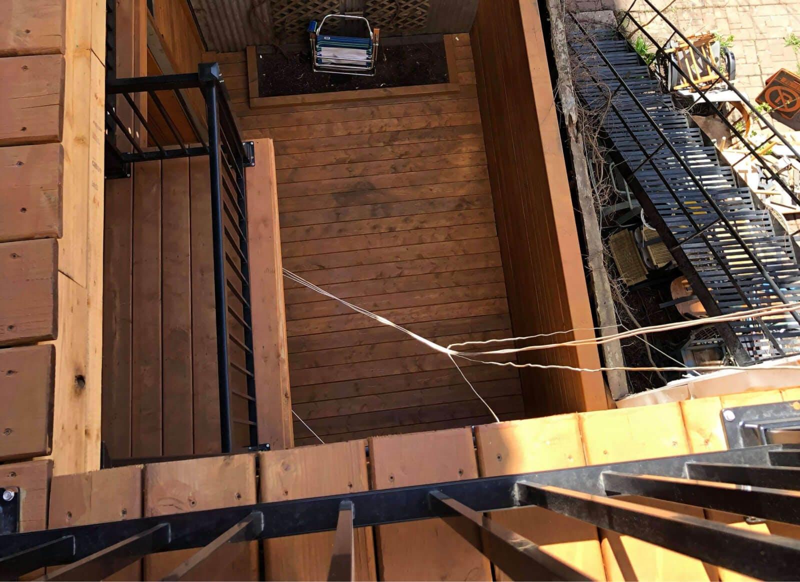 Balcon, après rénovation