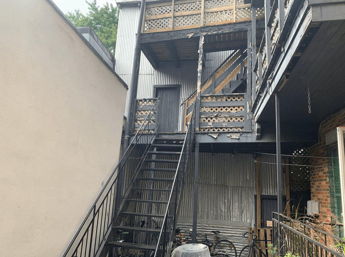 Balcon, avant rénovation