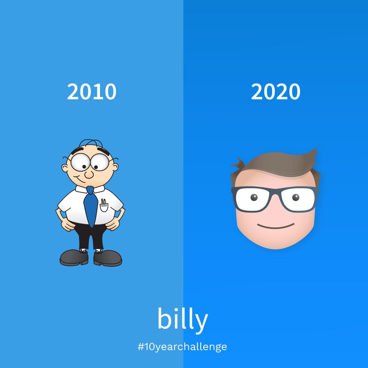 Billys grafiske udvikling på 10 år