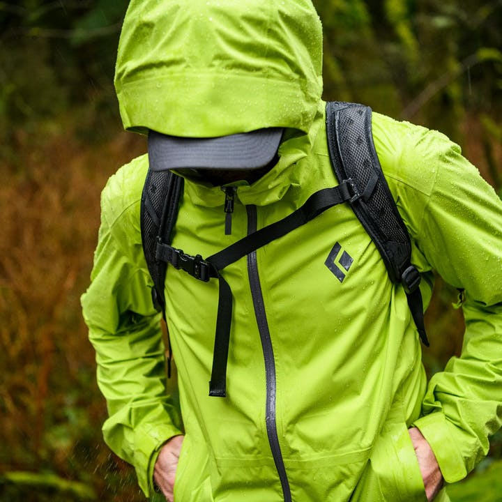 Photograph by Christian Adam of a man wearing a rain jacket outdoors
