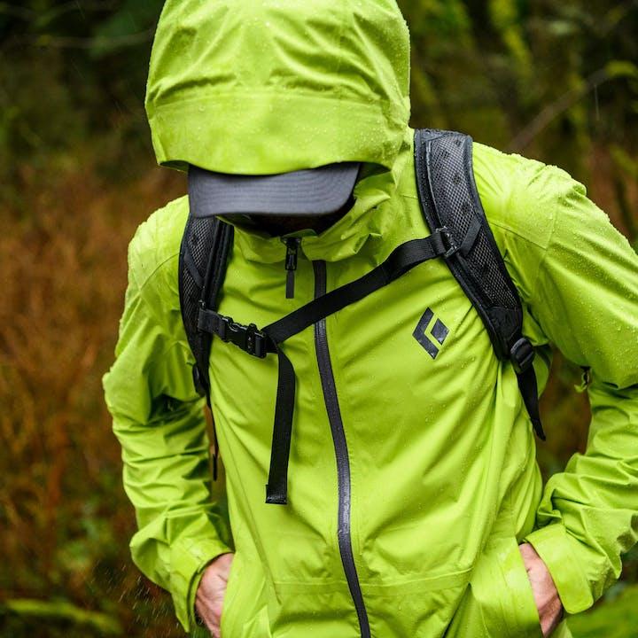 Photograph by Christian Adam of a man wearing a rain jacket outdoors