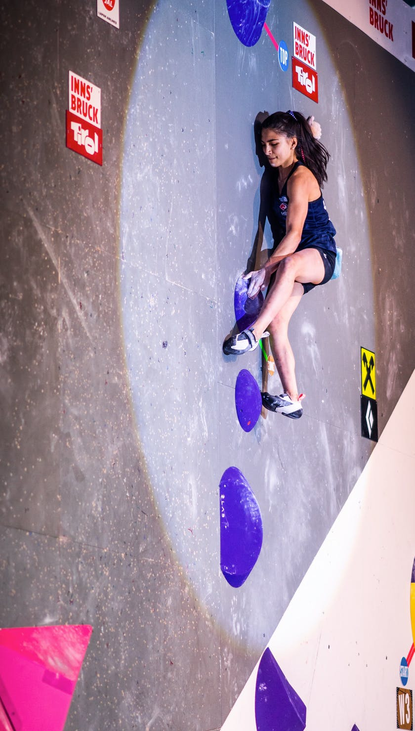 Black Diamond Athlete Natalia Grossman bouldering.