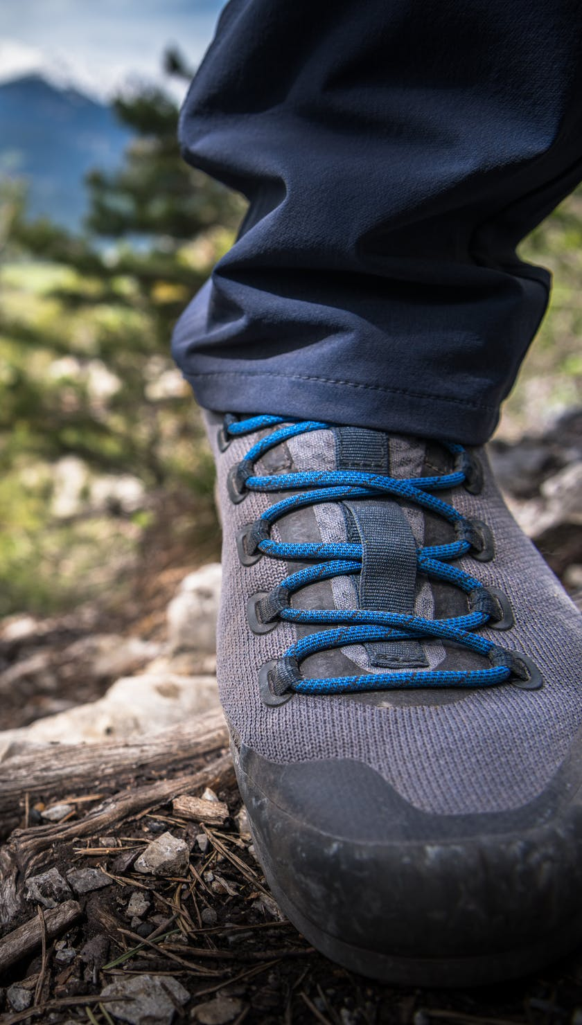 BD Approach shoes on a trail