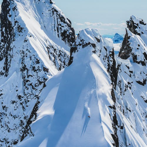 Johnny Collinson skiing
