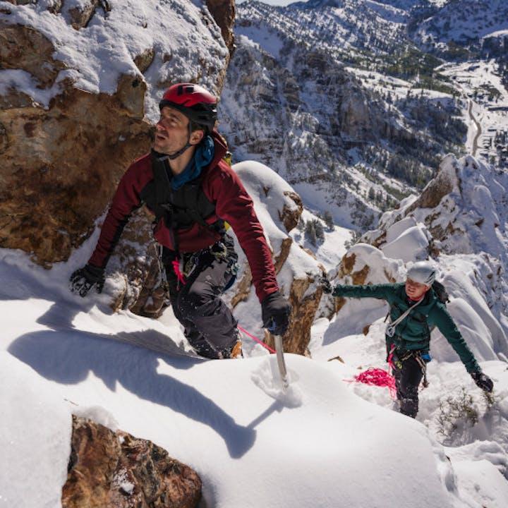 Climbing South Ridge in Snow