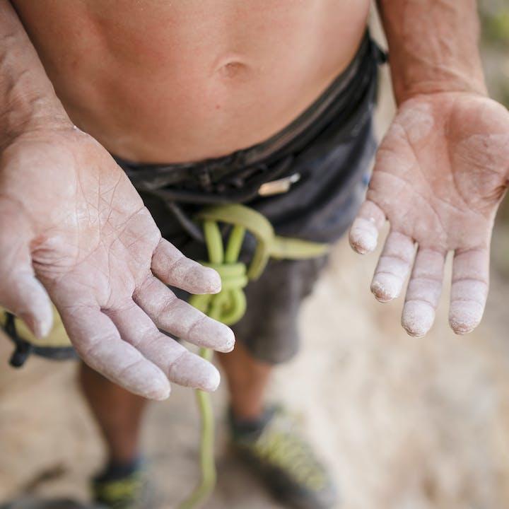 Black Diamond Athlete Alex Honnold using Eco Gold Chalk