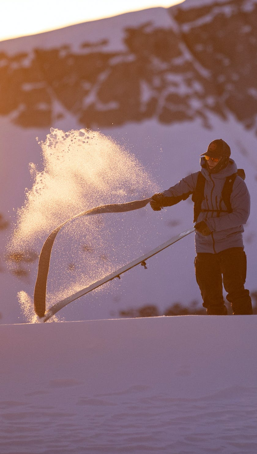 BD Athlete Mike Barney ripping skins in the backcountry
