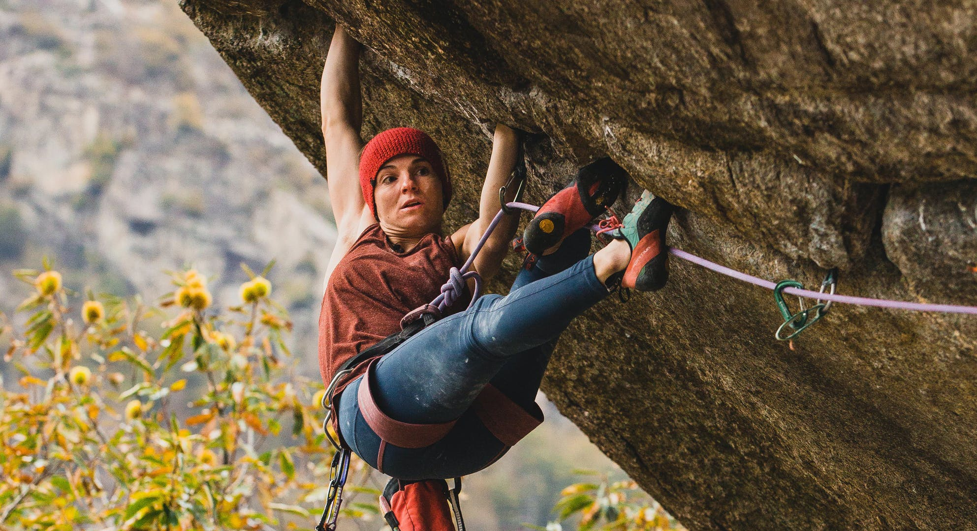 Black Diamond athlete Babsi Zangerl climbing Greenspit