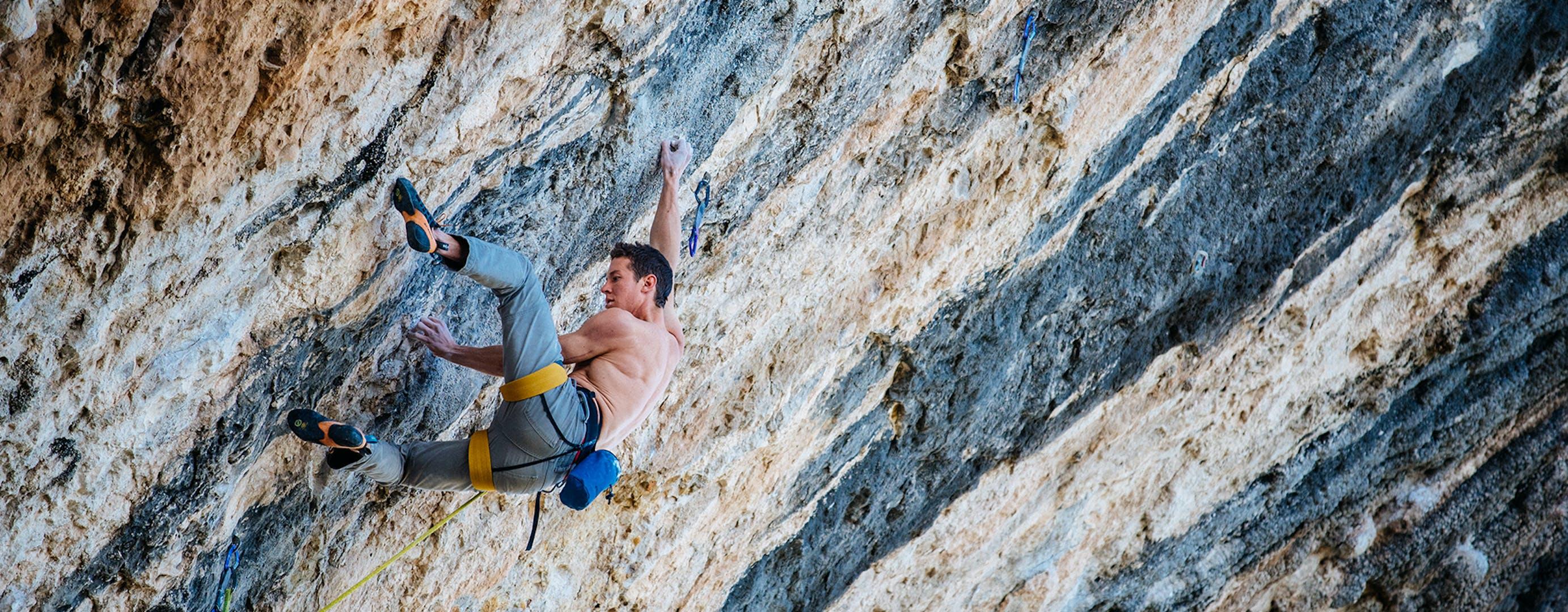 Matty Climbing.