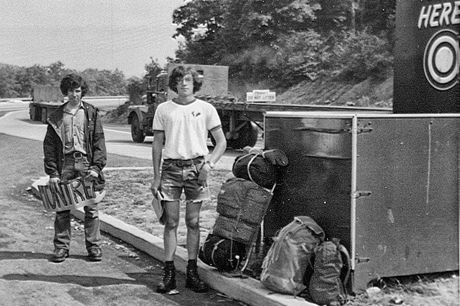 A young Peter Metcalf on his Boyscout trip