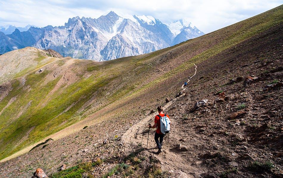 Nik Berry hiking across Kyrgyzstan