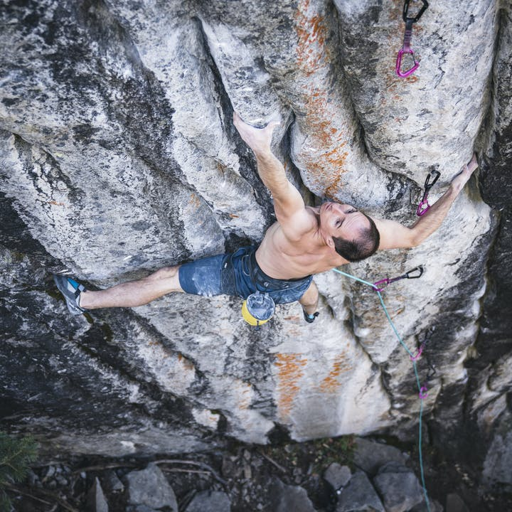 BD Athlete Carlo Traversi climbing Empath