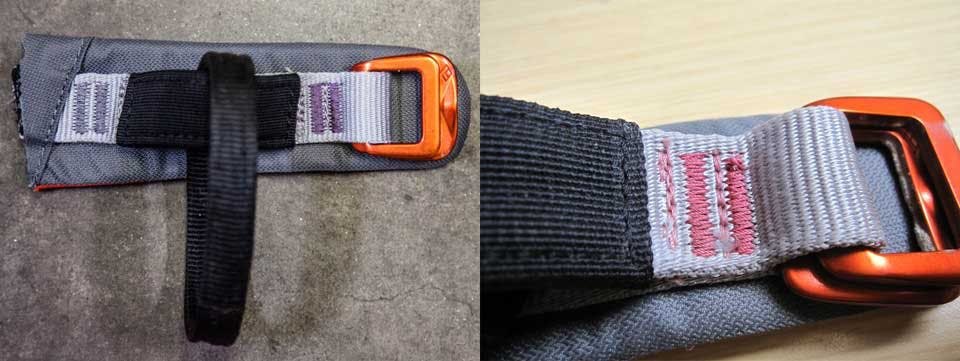 close examination on the nylon on the harness after exposure to chemicals.