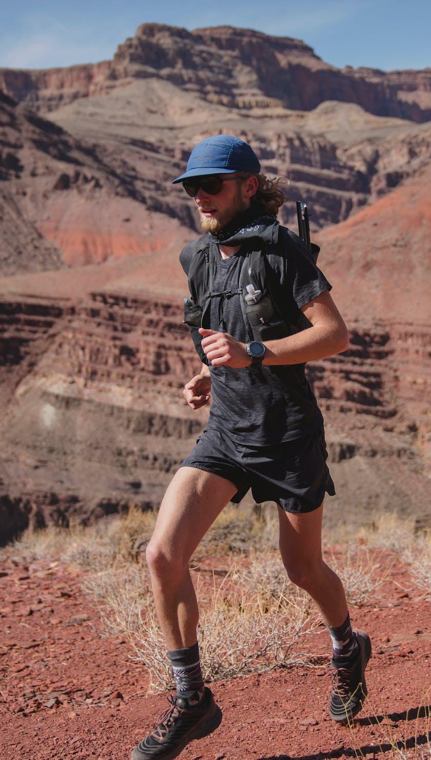 BD Athletes Kyle Richardson and Joe Grant running the the Utah desert