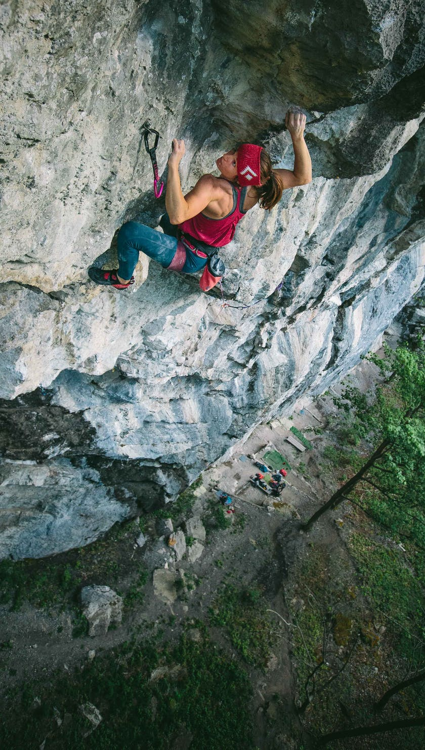 BD Athlete Babsi Zangerl sport climbing outside