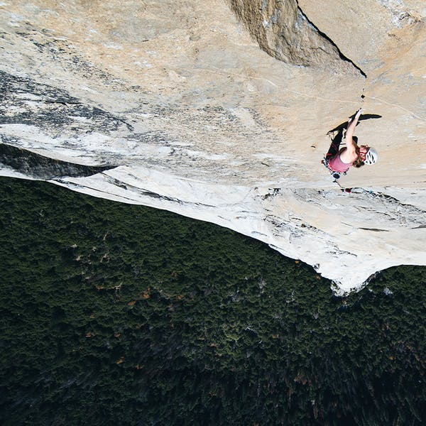 Babsi climbing El Capitan