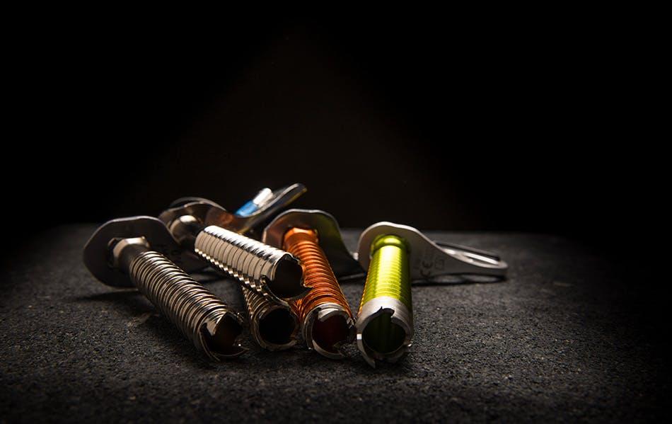 group of ice screws